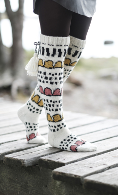 Huvikumpu colourwork socks Novita Nordic Wool and Nalle