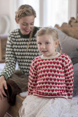 Children's colourwork sweater Novita Nalle