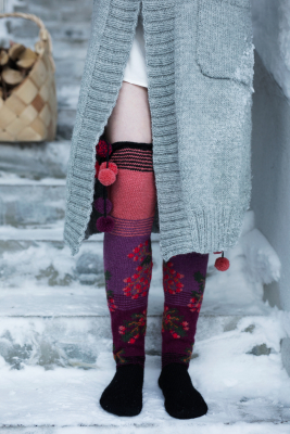 Rowanberry socks Novita Nordic Wool and Nalle
