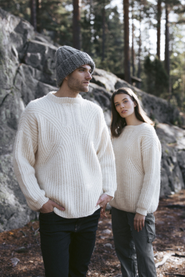 Fisherman brioche sweater Novita Natura