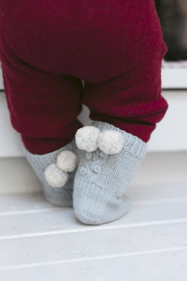 Snowberry socks for babies Novita Baby Merino and Baby Merino Dream