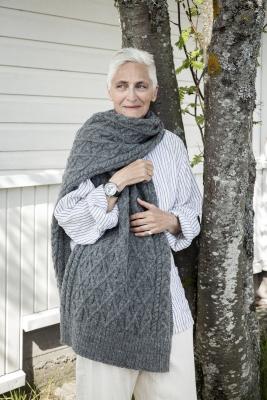 Kia-palmikkohuivi Novita Nordic Wool