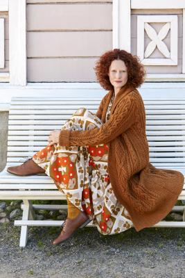 Juurakko-neuletakki Novita Nordic Wool