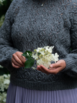 Yarn Stories by Sari N: Ines Lace Sweater Novita Nordic Wool