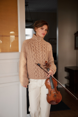 Novita Hygge Wool: Sonaatti cable sweater