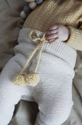 Novita Merino 4PLY: Pompula knitted baby tights