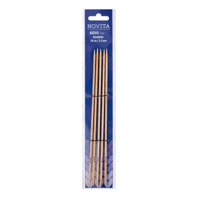 Novita birch double pointed cubic needles 20 cm