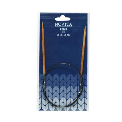 Novita circular knitting pins 60 cm birch
