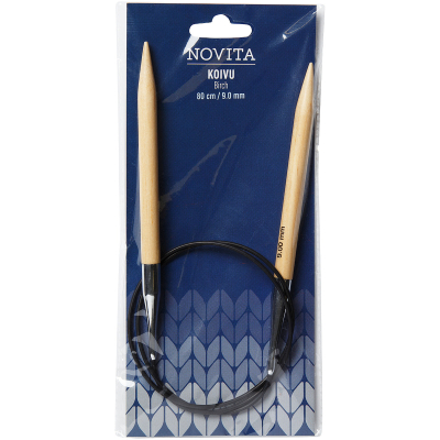 Novita circular needles 80 cm birch-9.0 mm