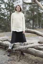 Womans Cable Pullover Novita Nordic Wool