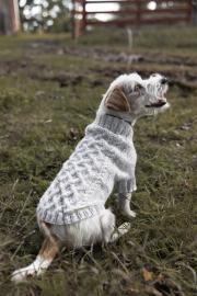 Haukku-koiran palmikkoneule Novita Hohde