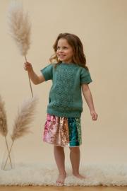 Novita Woolly Wood: Prinsessaleikki (Playing Princess) knitted T-shirt