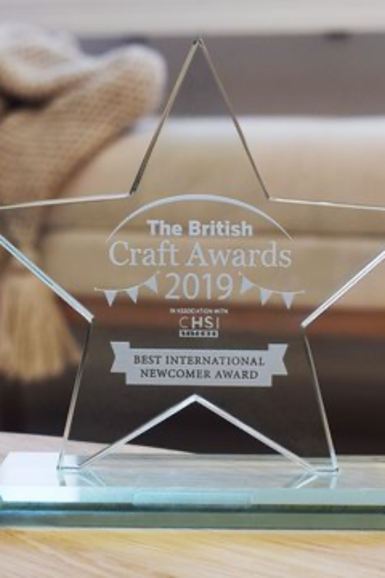 Novita at the 2019 British Craft Awards