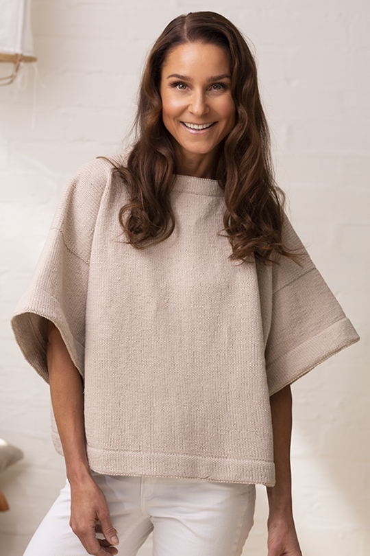 Sommarrextra 2020, Modell 3, Strandsand – tröjan Novita Baby Wool