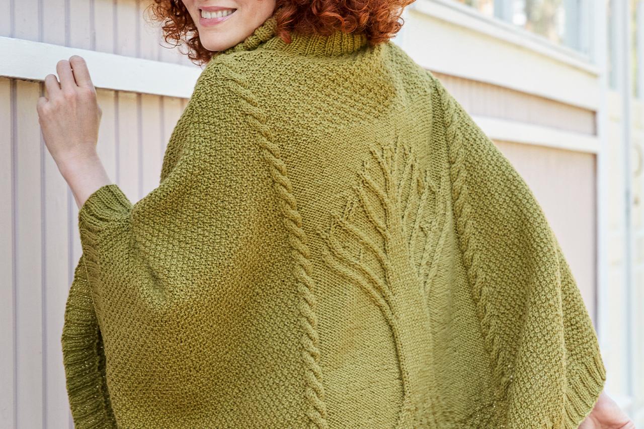 Hösten 2020, Modell 24, Livets träd – capen Novita Nordic Wool