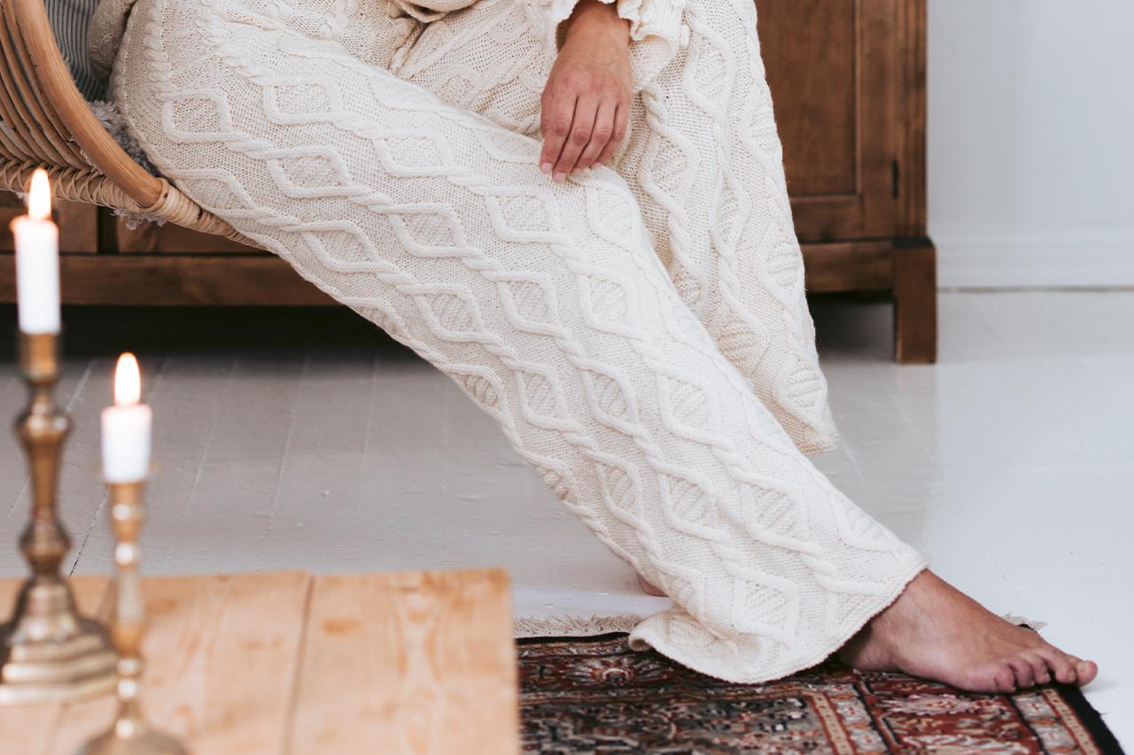 Vintern 2019, Modell 34, Helsingfors – stickade långbyxor Novita Nordic Wool