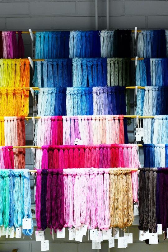 Färgämnen i Novita garn