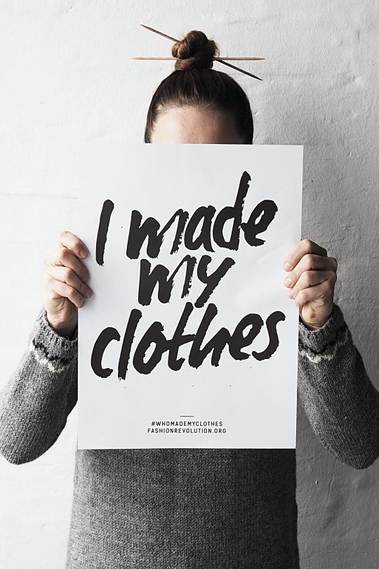 Vaatevallankumous-kampanja I Made My Clothes