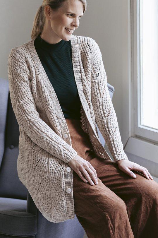 Talvi 2019, Malli 36, Olki-palmikkotakki Novita Baby Wool