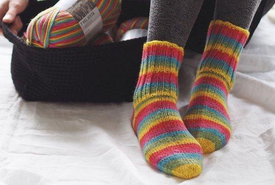 Women's bank special sock yarn by Novita